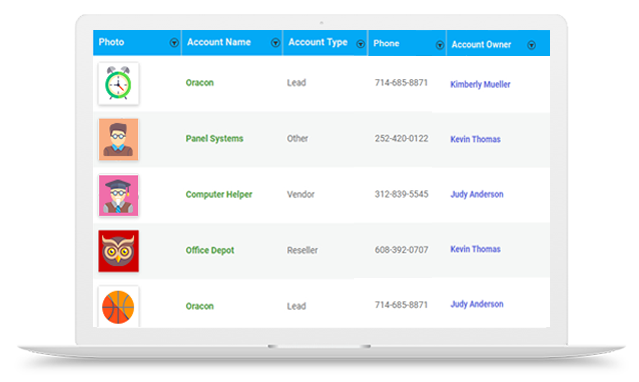 cloudapper-Simple-CRM-Account-Management