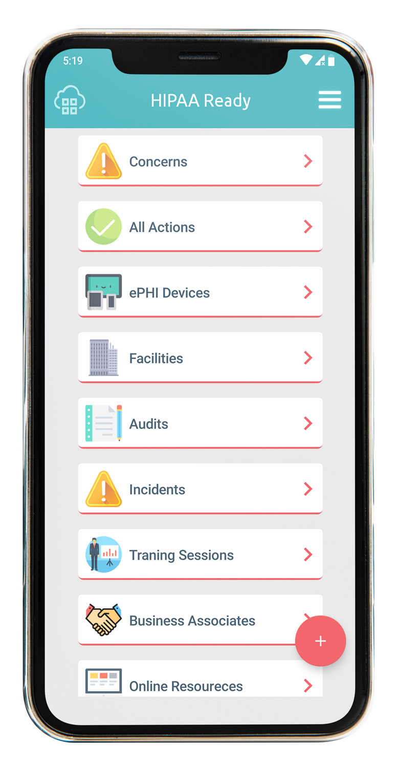HIPAA-Ready-on-a-smartphone HIPAA compliance software