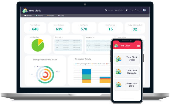 cloudapper-employee-time-clock-app-for-touchless-time-tracking-dashboard